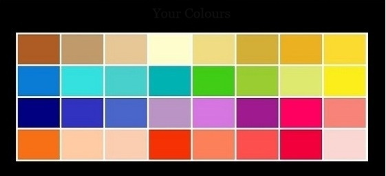 color palette spring type - Picture Color