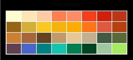 color palette autumn type